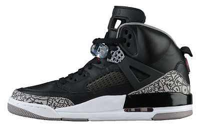 premium selection e94ce 63d48 ... these Air Jordan Spizike - Black - Varsity Red - Cement - SneakerN ...