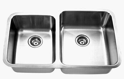 Empire Industries  SP15-RCC 32 Inch Double Bowl Undermount Kitchen Sink