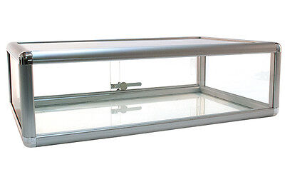 Countertop Glass Showcase Retail Store Merchandise Display 30lx18dx9h New