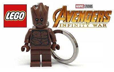 Lego Marvel Super Heroes Teen Groot Keychain Avengers Infinity War New In Bag