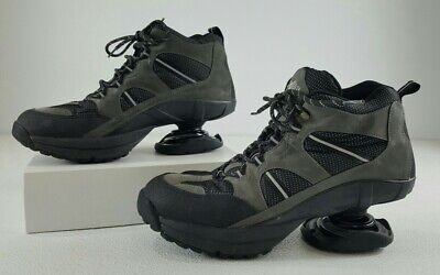 Z-Coil Spring Shoes for Hiking Walking Mens Leather Orthopedic Gray/Blk Size 12