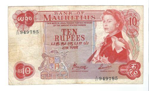 Mauritius - Ten (10) Rupees   1967