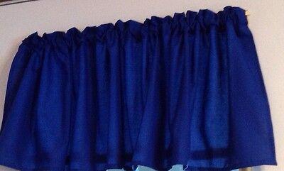 Royal Blue Kona Cotton  Window Curtain Valance 52