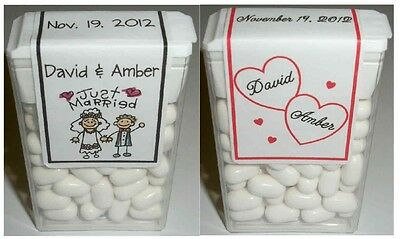 28 Wedding Favors Tic Tac Labels Personalized