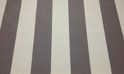 SUNBRELLA CANVAS STRIPE TAUPE & VELLUM OUTDOOR MULTIUSE FABRIC BY THE YARD 54