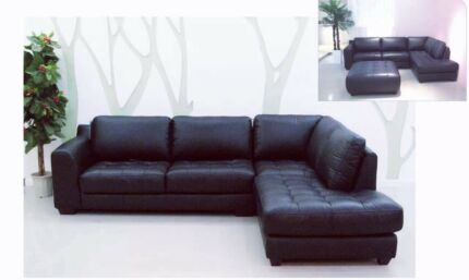 Cow Leather L-Shape Sofa with Chaise Special