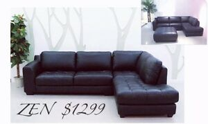 Brand New Leather Lounges Suite 1/2 Yearly Clearance! Werrington County Penrith Area Preview