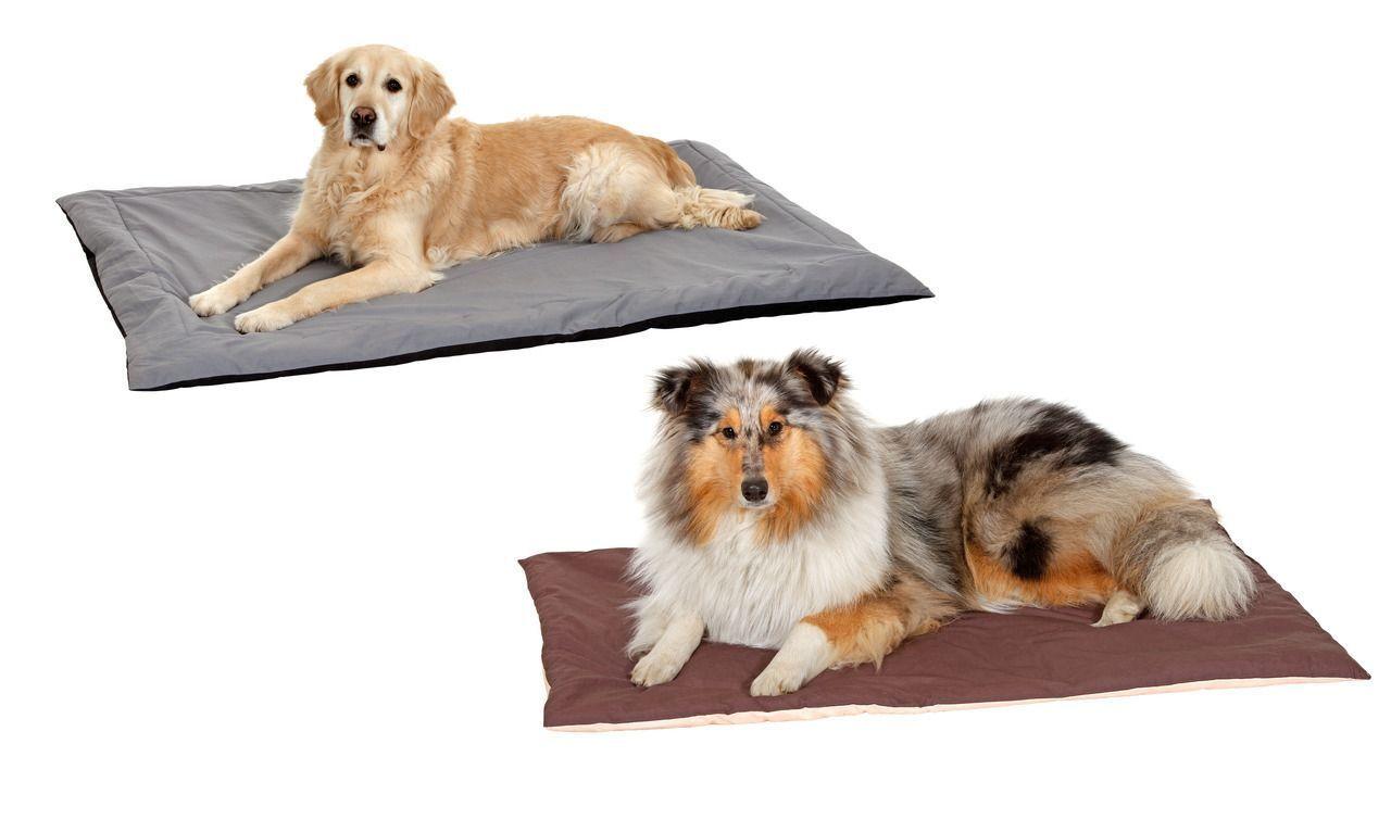 Coperta-cuscino per cani grigio e nero 145x100 cm