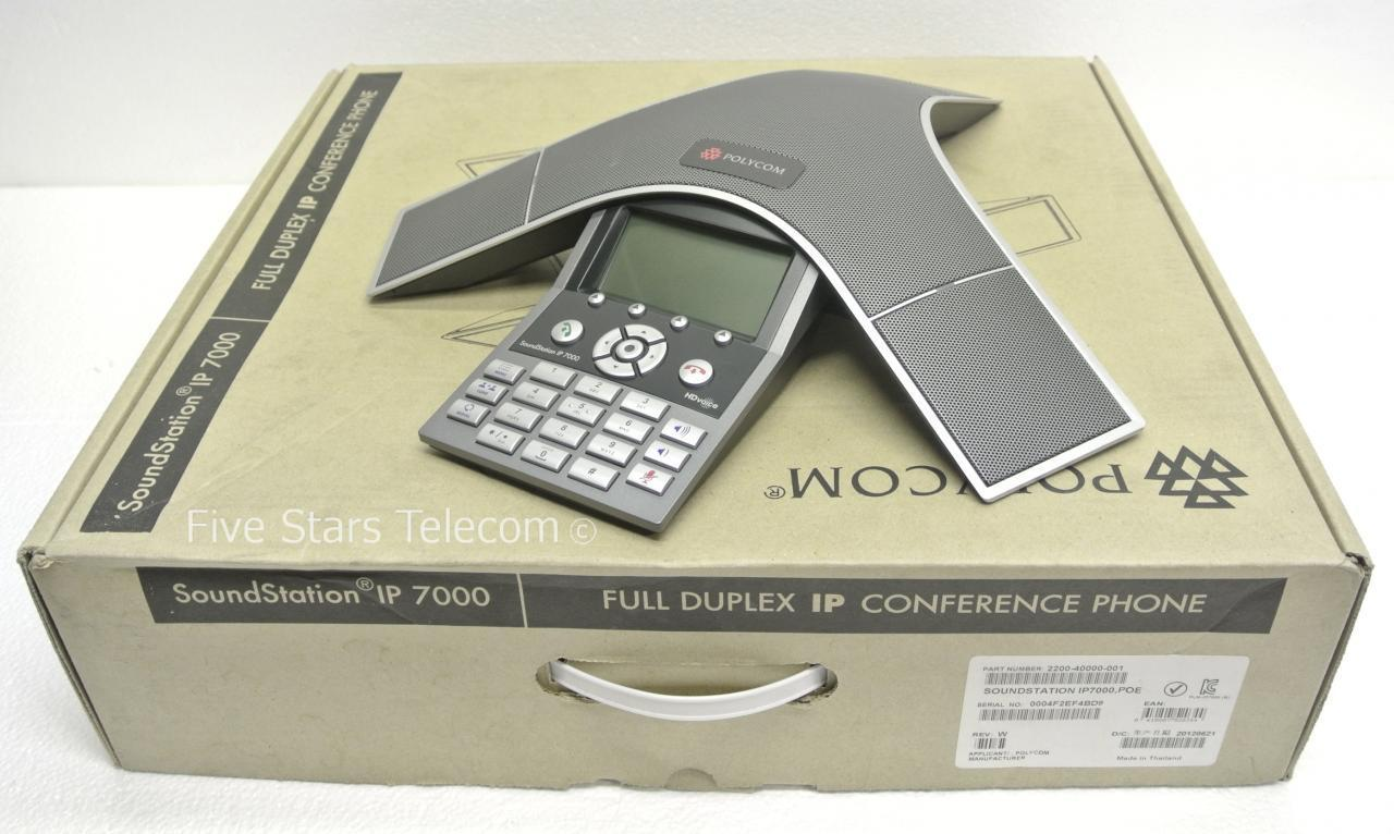 Polycom SoundStation IP 7000 VoIP Conference Phone PoE (2200