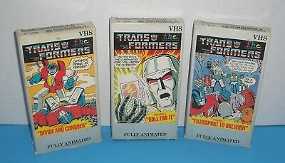 1984 vintage original Transformers FHE VHS Collection Volumes 5 6 7
