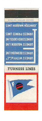 FURNESS LINES MATCHBOX LABEL ANNI '50 MARINA ENGLAND GREAT BRITAIN
