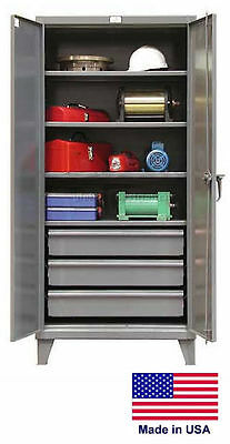 Steel Cabinet Commercialindustrial - Shelves Drawers 43 - 78 H X 24 D X 36 W
