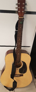 Academy D-2 Acoustic Guitar with Case