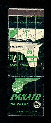 PANAIR DO BRASIL DC 7C MATCHBOX LABEL ANNI '50 AVIAZIONE AERONAUTICA AIRLINES