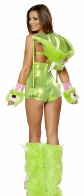 Christmas Holiday Green MONSTER Sexy Women's Furry Costume Med