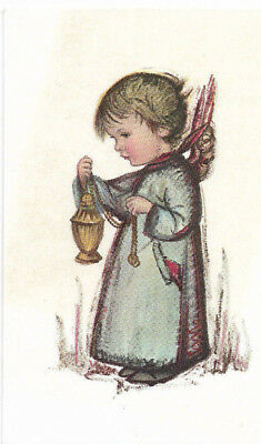 Vintage Little Child Angel Christmas Card