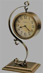 Howard Miller 635155 Jenkins Mantel Clock - Two Sided - Aged Brass Toned