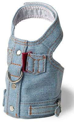Denim Dog Harness Vest - Denim Blue Jean Dog Harness Vest Doggles all sizes Pet