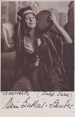 MARIE GUTHEIL-SCHODER opera soprano signed photo as Esmeralda CREATOR ROLE