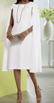 Ashro Off White Formal Wedding Victoria Cape Dress 8 10 12 14 18W PLUS - White Special Occasion Dress