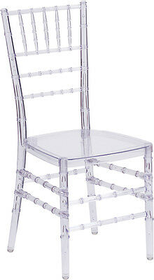 Crystal Clear Resin Chiavari Chair - Commercial Quality Stackable Wedding Chair