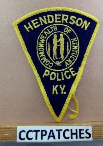 HENDERSON, KENTUCKY POLICE SHOULDER PATCH KY USED