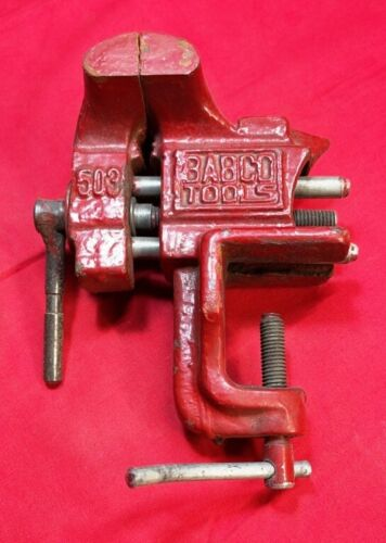"""BABCO TOOLS CLAMP ON BENCH VISE, 503, HEIGHT 7"""", LENGTH 5.5"""", WIDTH 3"""""""
