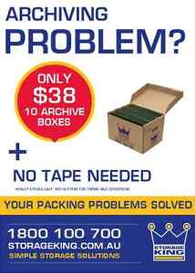 10 archive boxes for $38.00 or FREE with any storage unit rented Beverley Charles Sturt Area Preview