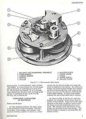 - Manual Overhaul, Repair, Handling of Hamilton Ship Chronometer Parts Catalog PB