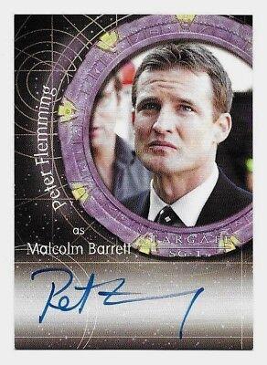 Stargate SG-1 PETER FLEMMING as Malcolm Barrett Autograph Card A93