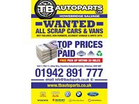 Whatever the make, model, age or condition we will scrap your car, many car parts in stock,