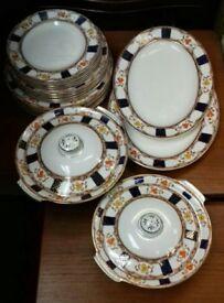 "Alfred Meakin ""Stanley"" vintage/antique dinner set 22 pieces"