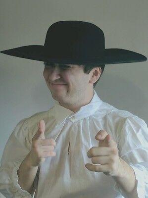 Wool Felt Blank Hat Reenactors Wool felt hat Black Brown 18th 19th century repro