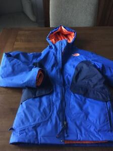 Boys Northface boundary tri-clate coat-monster blue/orange