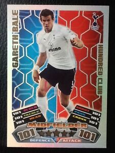 TOPPS MATCH ATTAX 2011/12 HUNDRED 100  CLUB #423 GARETH BALE