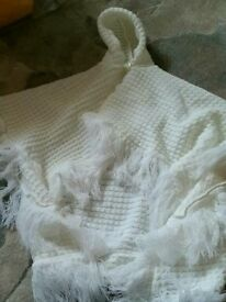 White Mothercare Baby Poncho