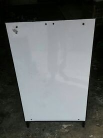 Standing Whiteboard. White board. Small to medium sized. f2f x 3ft