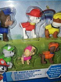 Paw Patrol 3D Puzzle Erasers