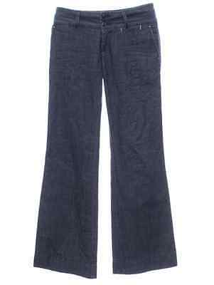 - Lucky Brand 5th Avenue Trouser Wide Leg Dark Denim Jeans Dress Pants NEW 4 27