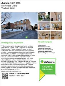 Maison jumelé a Vaudreuil-Dorion