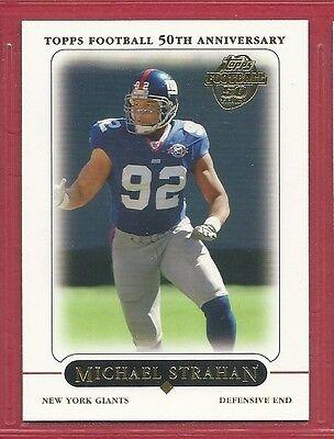 2005 Topps Football    141   Michael Strahan   New York Giants