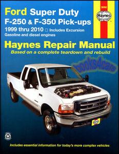 FORD F250 SHOP MANUAL SERVICE REPAIR BOOK HAYNES CHILTON SD DIESEL POWER STROKE