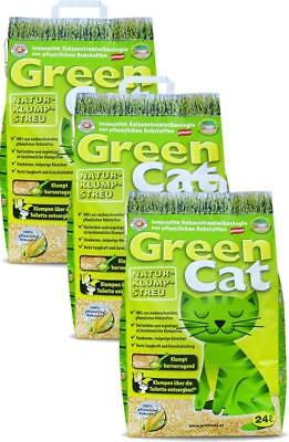 Greencat Natur-Klumpstreu 3 x 24 Liter Katzenstreu klumpend