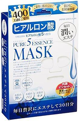 (New Pure 5 Essence Hyaluronic Acid Maintain Elasticity Mask 30 Sheets Japan Gals)