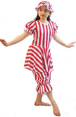 Edwardian-Victorian-Sea Side-Dance-Solo STRIPED BATHING BELLE All (Belle Dance Kostüm)