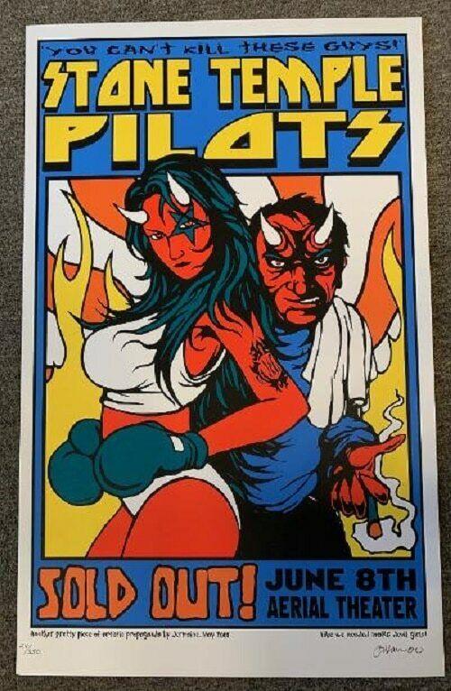 Stone Temple Pilots Concert Poster 2000 Jermaine Rogers S/N Houston