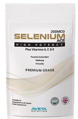 SELENIUM ACE 200mcg HIGH POTENCY-Immune System-Vitamin A,C & E