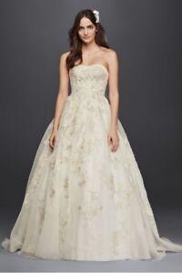 Organza Veiled Lace Wedding Dress
