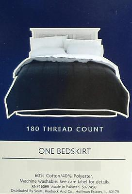 Colormate Black King Size Tailored Bed Skirt Bedding New.