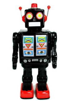 Brand New - Collectable Electron Walking Black Tin Robot